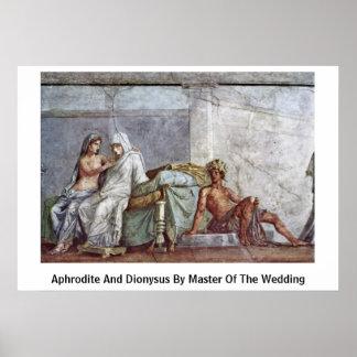 Aphrodite y Dionysus por el amo del boda Posters