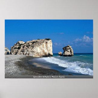 Aphrodite's birthplace, Pissouri, Cyprus Poster