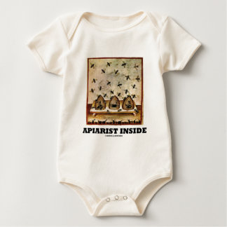 Apiarist Inside (Tacuina sanitatis 14th Century) Baby Bodysuit