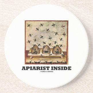 Apiarist Inside (Tacuina sanitatis 14th Century) Beverage Coaster