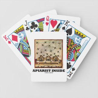 Apiarist Inside (Tacuina sanitatis 14th Century) Bicycle Playing Cards