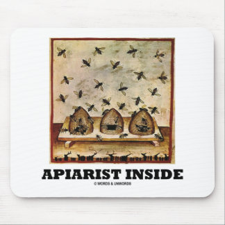 Apiarist Inside (Tacuina sanitatis 14th Century) Mouse Pad