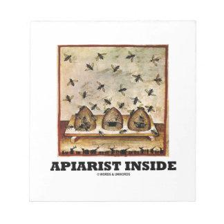 Apiarist Inside (Tacuina sanitatis 14th Century) Notepad