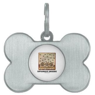 Apiarist Inside (Tacuina sanitatis 14th Century) Pet Name Tag