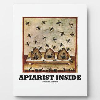 Apiarist Inside (Tacuina sanitatis 14th Century) Plaque