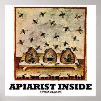 Apiarist Inside (Tacuina sanitatis 14th Century) Poster