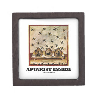 Apiarist Inside (Tacuina sanitatis 14th Century) Premium Jewelry Boxes