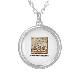 Apiarist Inside (Tacuina sanitatis 14th Century) Round Pendant Necklace