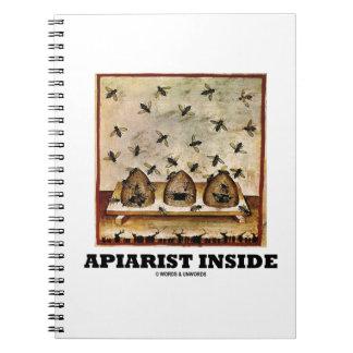 Apiarist Inside (Tacuina sanitatis 14th Century) Spiral Note Books