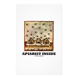 Apiarist Inside (Tacuina sanitatis 14th Century) Stationery