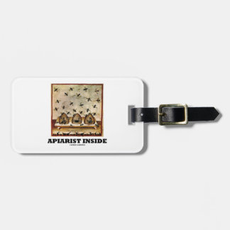 Apiarist Inside (Tacuina sanitatis 14th Century) Tag For Luggage