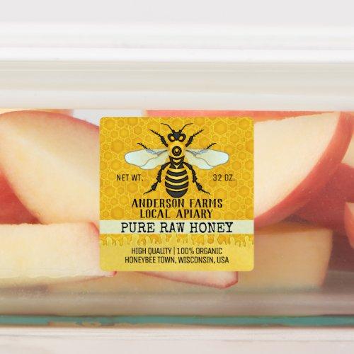 Apiary Honey Jar Bee Farm Honeybee and Honeycomb Labels