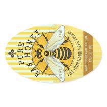 Apiary Honey Jar Labels | Honeybee Honeycomb Bee