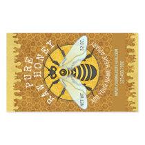 Apiary Honeybee Honey Jar Labels | Honeycomb Bee