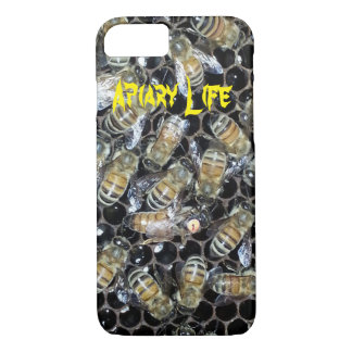 Apiary Life iPhone 7 Case - Queen bee on honeycomb