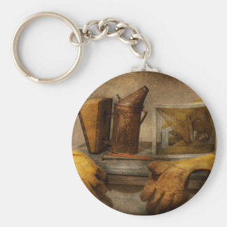 Apiary - The Beekeeper Basic Round Button Keychain