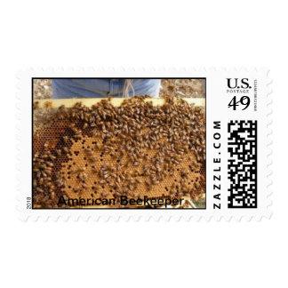 Apicultor americano timbre postal