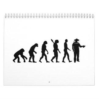 Apicultor de la evolución calendario de pared