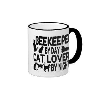 Apicultor del amante del gato taza de dos colores