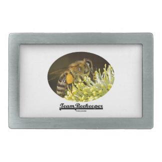 Apicultor del equipo (abeja en la flor amarilla) hebillas cinturón rectangulares