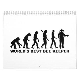Apicultor del mundo de la evolución el mejor calendarios de pared