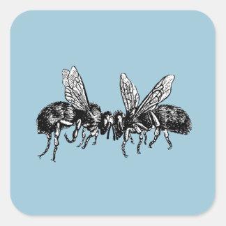 apicultor del vintage pegatina cuadrada
