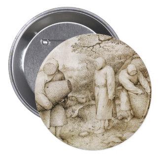 Apicultores de Pieter Bruegel la anciano Pin Redondo De 3 Pulgadas