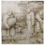 Apicultores de Pieter Bruegel la anciano Servilletas