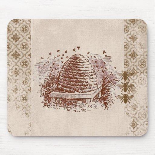 Apicultura de la colmena del vintage tapete de ratón