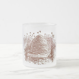 Apicultura de la colmena del vintage taza de cristal