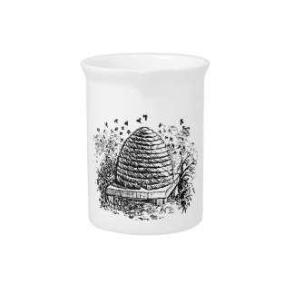 Apicultura de las abejas de la miel de la colmena jarras para bebida