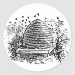 Apicultura de las abejas de la miel de la colmena pegatinas redondas