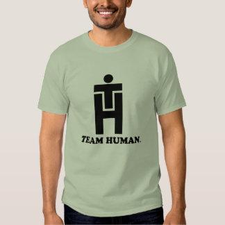 Apilador del ser humano del equipo playera