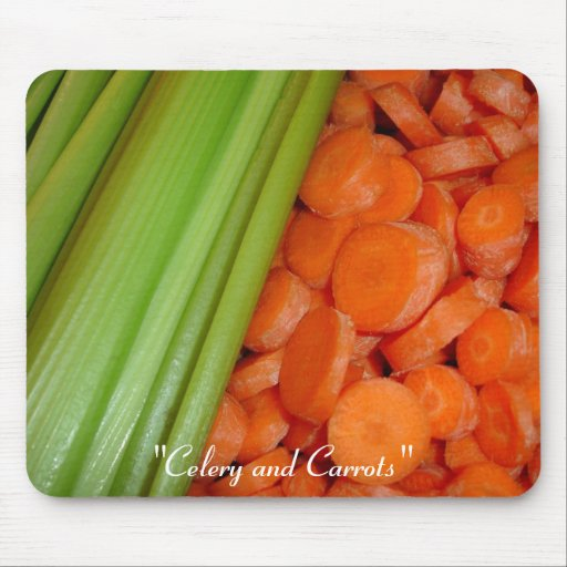 Apio y zanahorias Mousepad Alfombrilla De Raton