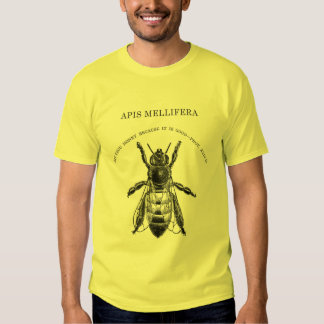 Apis Mellafera Honey Bee Beekeeping T-shirts