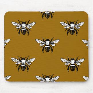 Apis Mellifera Honeybee Pattern Mousepad