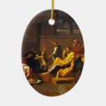 Apisonamiento de Moses del bebé de Nicolás Poussin Adorno De Navidad