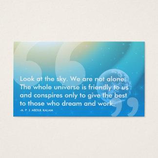 APJ Abdul Kalam success quote Business Card