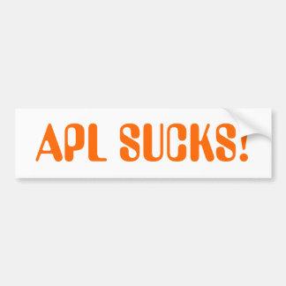 apl sucks bumper sticker