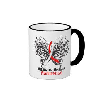 Aplastic Anemia Awareness Butterfly Ringer Mug