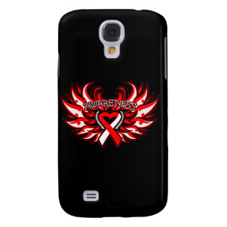 Aplastic Anemia Awareness Heart Wings Samsung Galaxy S4 Cover