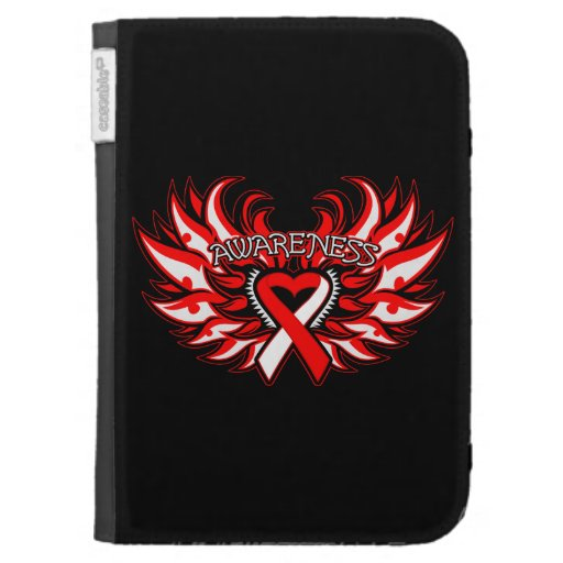 Aplastic Anemia Awareness Heart Wings Cases For The Kindle