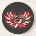 Aplastic Anemia Awareness Heart Wings Drink Coaster