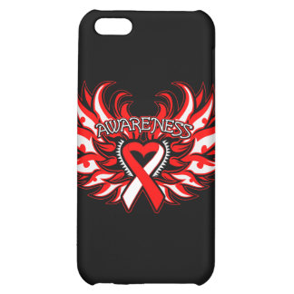 Aplastic Anemia Awareness Heart Wings Case For iPhone 5C