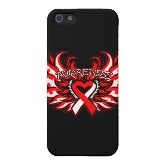 Aplastic Anemia Awareness Heart Wings Case For iPhone 5