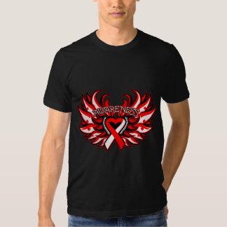Aplastic Anemia Awareness Heart Wings T Shirt