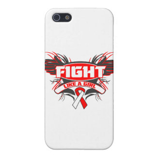 Aplastic Anemia Fight Like a Girl Wings.png iPhone 5 Case