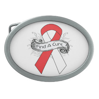 Aplastic Anemia Find A Cure Ribbon Belt Buckle