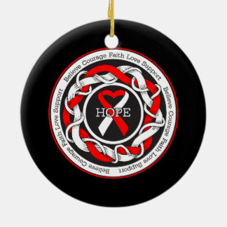 Aplastic Anemia Hope Intertwined Ribbon Ceramic Ornament