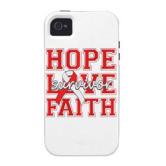 Aplastic Anemia Hope Love Faith Survivor Vibe iPhone 4 Covers